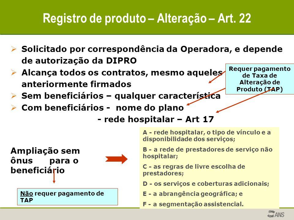  Solicitado por correspondência da Operadora, e depende de autorização da DIPRO  Alcança todos os contratos, mesmo aqueles anteriormente firmados 