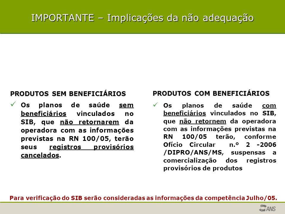 SOLICITAÇÃO DE ADEQUAÇÃO DE REGISTRO DE PRODUTO Escopo da adequação Adequação eletrônica (ARPS) Consistências e validações do ARPS IMPORTANTE – implicações da não adequação IMPORTANTE – implicações da não adequação Interfaces - adequação dos registros provisórios e a concessão da autorização de funcionamento da operadora.