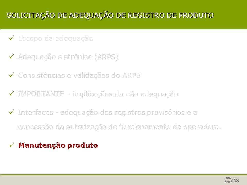 Interfaces - adequação dos registros provisórios e a concessão da autorização de funcionamento da operadora.