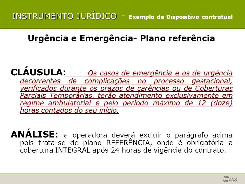 INSTRUMENTO JURÍDICO – NOTAS PRATICAS Temas em que a operadora pode registrar apenas o campo: NOME COMERCIAL E Nº DE REGISTRO DO PLANO ÁREA GEOGRÁFICA DE ABRANGÊNCIA DO PLANO: Ex : grupo de municípios, nos seguintes municípios:........
