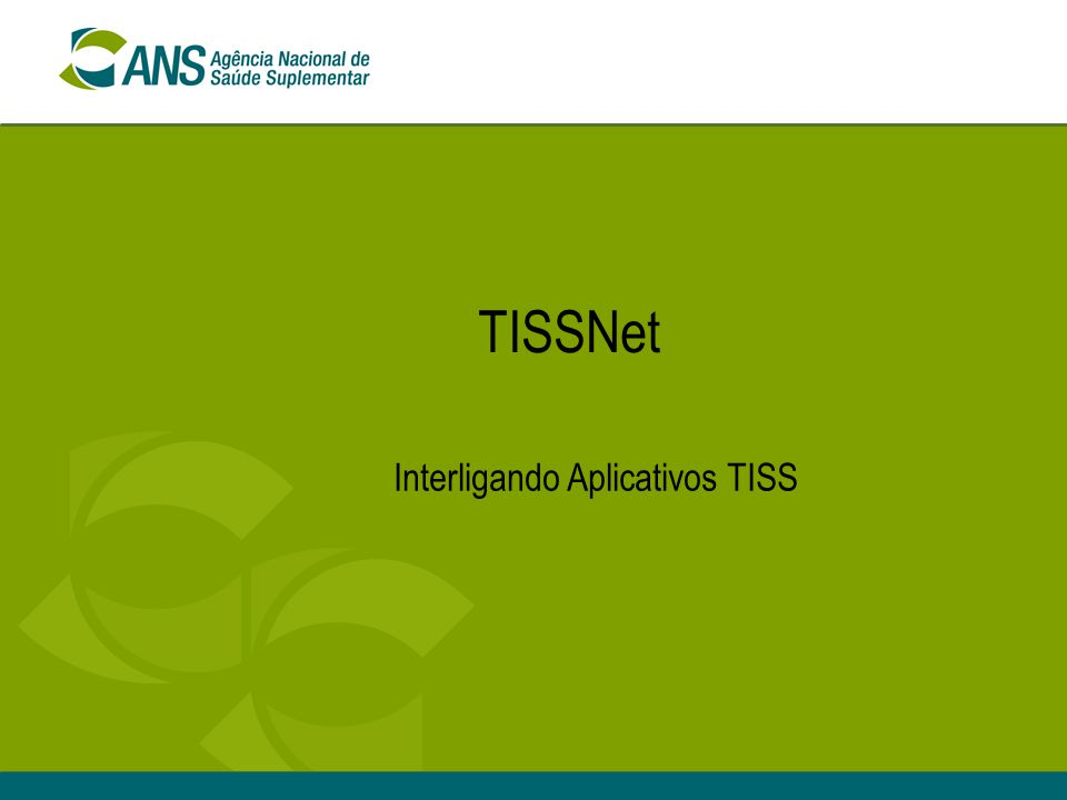 22 TISSNet - Implementação Versão WINDOWS + Versão UNIXVersão WINDOWS + Versão UNIX Versão únicaVersão única Parte do aplicativo TISSParte do aplicativo TISS Aplicativo independenteAplicativo independente Interface VisualInterface Visual Sem interface visualSem interface visual