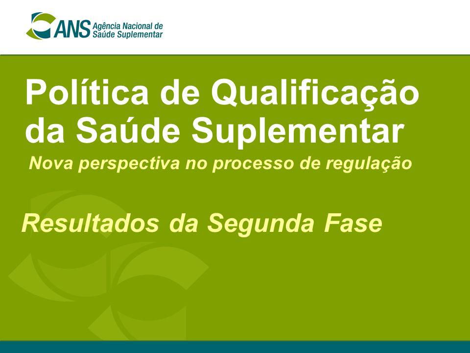 Política de Qualificação da Saúde Suplementar Resultados da Segunda Fase Nova perspectiva no processo de regulação