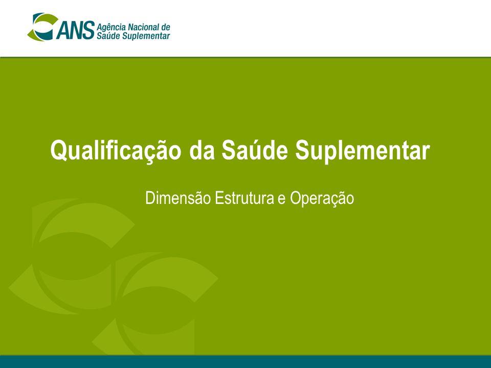 Qualificação da Saúde Suplementar Dimensão Estrutura e Operação