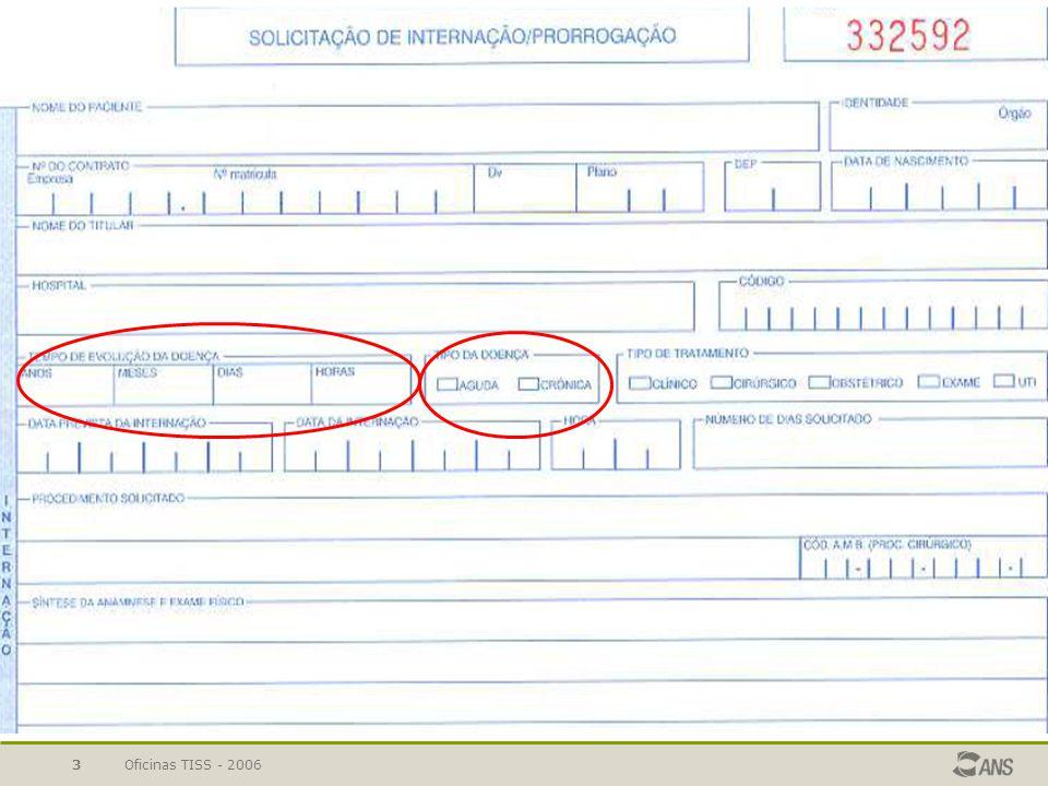 Oficinas TISS - 200624 Guias Dados do beneficiário Número da Carteira Plano Validade da Carteira Nome Número do Cartão Nacional de Saúde Nome do titular