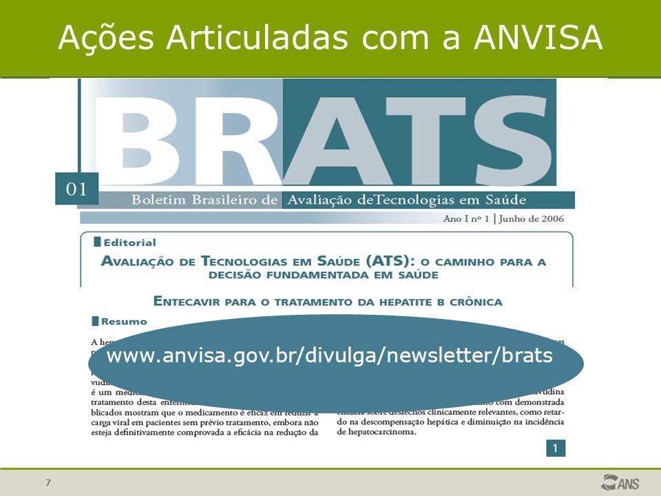 7 Ações Articuladas com a ANVISA www.anvisa.gov.br/divulga/newsletter/brats