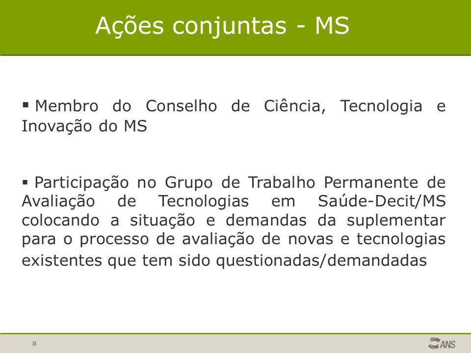8  Membro do Conselho de Ciência, Tecnologia e Inovação do MS  Participação no Grupo de Trabalho Permanente de Avaliação de Tecnologias em Saúde-Dec