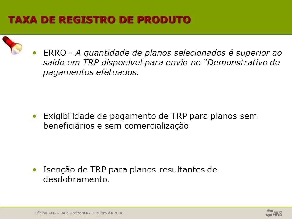 Oficina ANS - Belo Horizonte - Outubro de 2006 PRINCIPAIS DÚVIDAS DOS APLICATIVOS Incorporação de dados Incorporação de dados Características Gerais dos Produtos Características Gerais dos Produtos Cláusulas contratuais do Instrumento Jurídico Cláusulas contratuais do Instrumento Jurídico Nota Técnica de Registro de Produto Nota Técnica de Registro de Produto Taxa de Registro de Produto Taxa de Registro de Produto Cadastro Nacional de Estabelecimentos de saúde Cadastro Nacional de Estabelecimentos de saúde