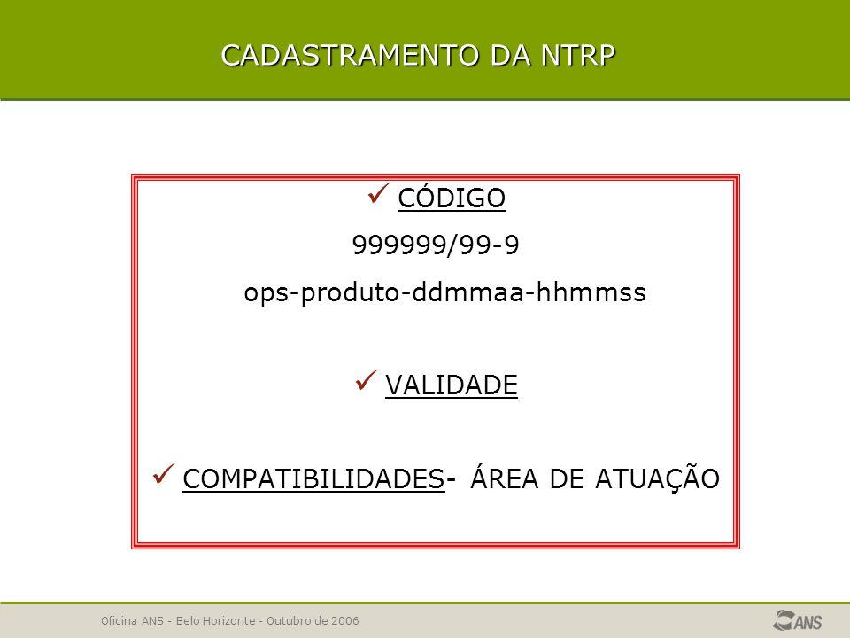 Oficina ANS - Belo Horizonte - Outubro de 2006 INSTRUMENTO JURÍDICO INSTRUMENTO JURÍDICO -Temas não obrigatórios PADRÃO DE ACOMODAÇÃO EM INTERNAÇÃO - nos planos ambulatoriais ou planos odontológicos DOENÇAS E LESÕES PREEXISTENTES - quando não há restrições de cobertura ACESSO A LIVRE ESCOLHA DE PRESTADORES FAIXAS ETÁRIAS- quando não houver variação de preços BÔNUS - DESCONTOS REGRAS PARA INSTRUMENTOS JURÍDICOS DE PLANOS COLETIVOS- nos planos individuais CONDIÇÕES DE VÍNCULO DO BENEFICIÁRIO EM PLANOS COLETIVOS- nos planos individuais SERVIÇOS E COBERTURAS ADICIONAIS