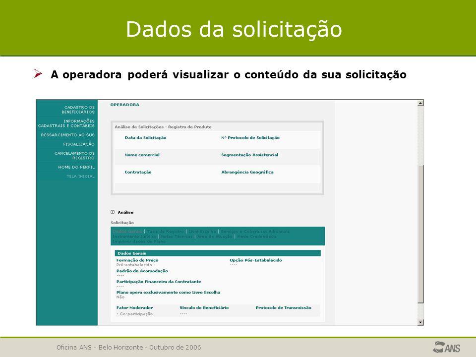 Oficina ANS - Belo Horizonte - Outubro de 2006 Relatório de Pendências