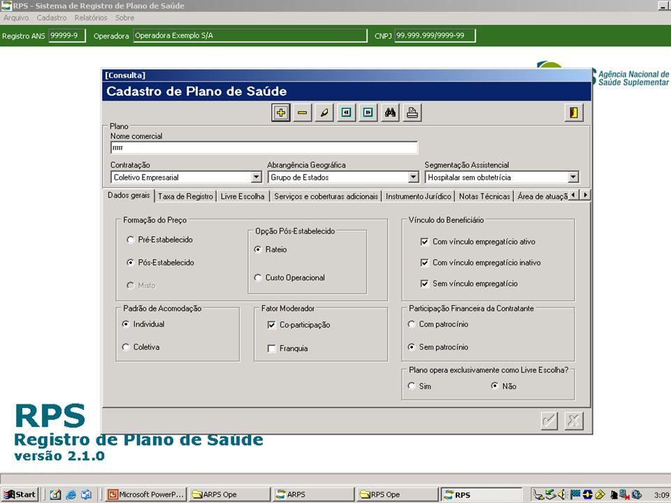 Oficina ANS - Belo Horizonte - Outubro de 2006 SISTEMAS INTERLIGADOS - ARPS ARPS CADOP NTRP CONTROLE DE TAXAS CNES LRPS-3 REGISTRO PROVISÓRIO Manutenção SIBSIP