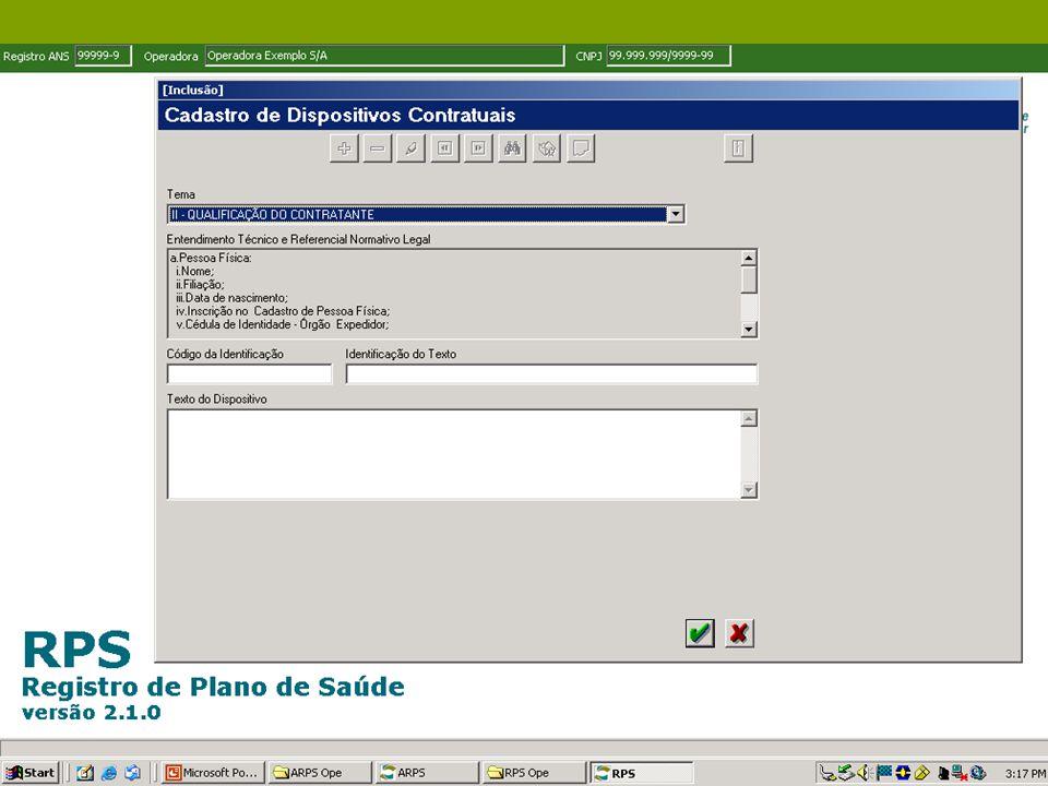 Oficina ANS - Belo Horizonte - Outubro de 2006 CARACTERÍSTICAS GERAIS DOS PRODUTOS Solicitação de alteração de características via aplicativo ARPS.