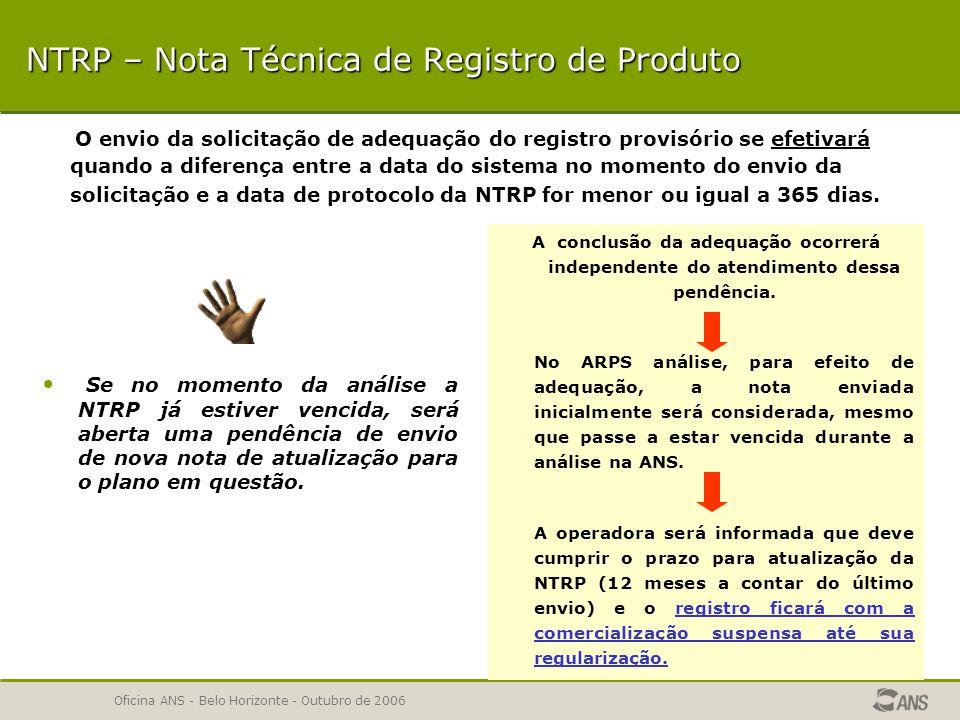 Oficina ANS - Belo Horizonte - Outubro de 2006 ETAPAS DA ANÁLISE 1ª ETAPA – Dados Gerais 2ª ETAPA – NTRP 2ª ETAPA – NTRP 3ª ETAPA – Instrumento Jurídico 4ª ETAPA – Rede Assistencial