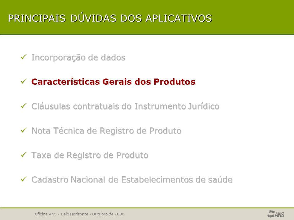 Oficina ANS - Belo Horizonte - Outubro de 2006 INCORPORAÇÃO DE DADOS Diferença entre Avisos e Erros Atualização dos aplicativos ARPS/RPS Verificação da Incorporação de dados.
