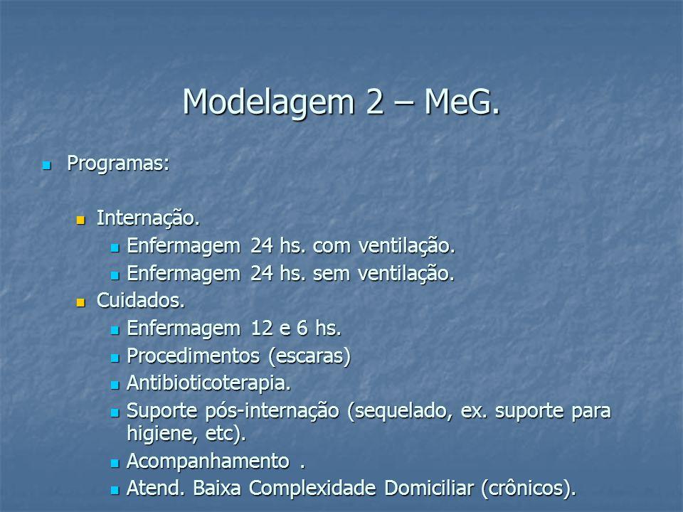 Modelagem 2 – MeG. Programas: Programas: Internação.