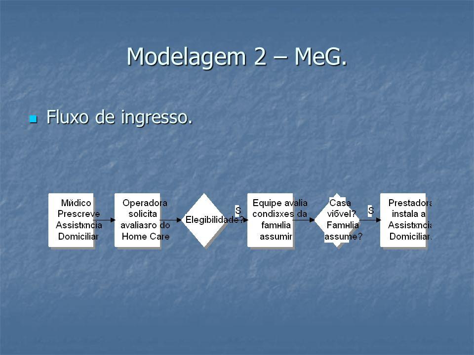 Modelagem 2 – MeG. Fluxo de ingresso. Fluxo de ingresso.