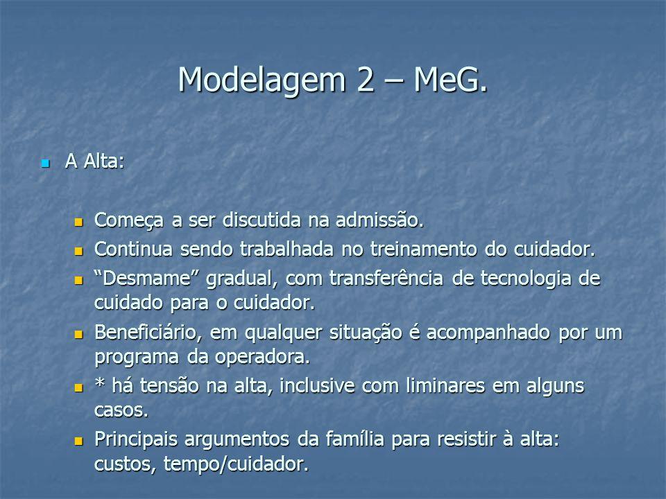 Modelagem 2 – MeG. A Alta: A Alta: Começa a ser discutida na admissão.