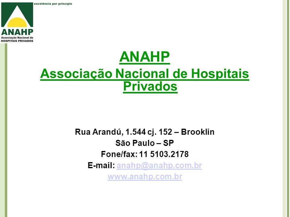 ANAHP Associação Nacional de Hospitais Privados Rua Arandú, 1.544 cj.