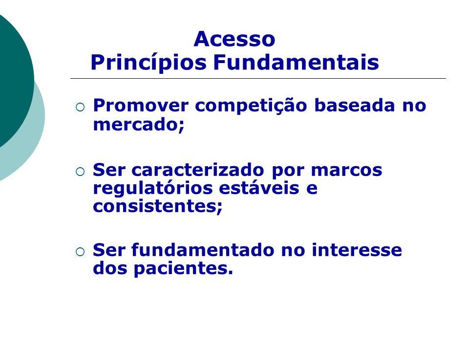  Promover competição baseada no mercado;  Ser caracterizado por marcos regulatórios estáveis e consistentes;  Ser fundamentado no interesse dos pac