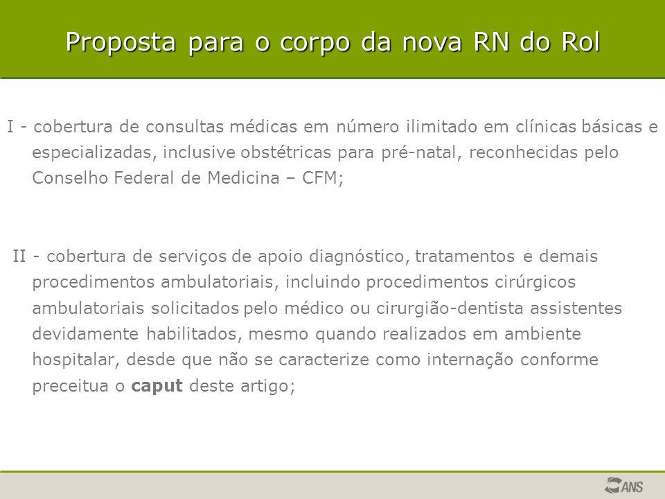 I - cobertura de consultas médicas em número ilimitado em clínicas básicas e especializadas, inclusive obstétricas para pré-natal, reconhecidas pelo C