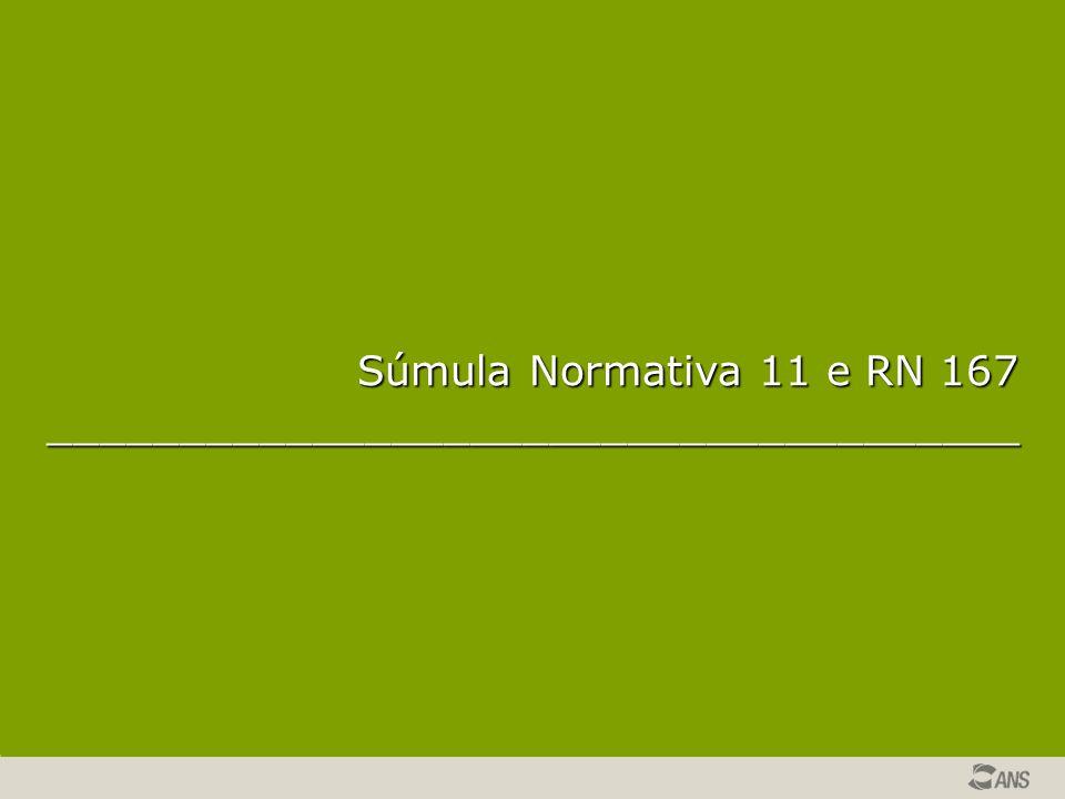 Súmula Normativa 11 e RN 167 _____________________________________