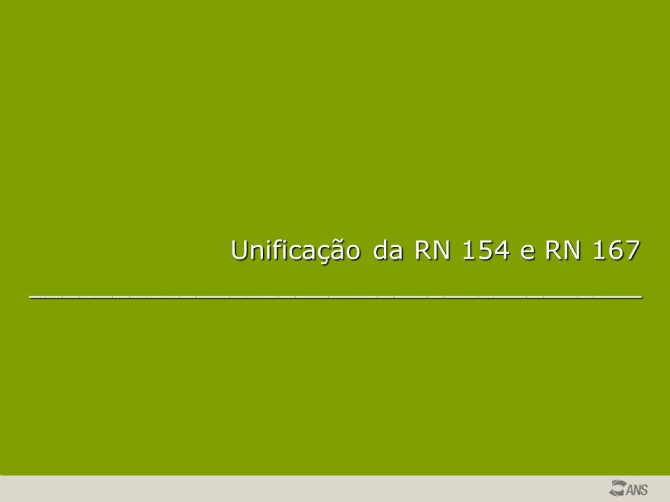 Unificação da RN 154 e RN 167 _____________________________________