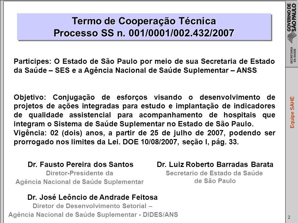 2 Equipe SAHE Termo de Cooperação Técnica Processo SS n.