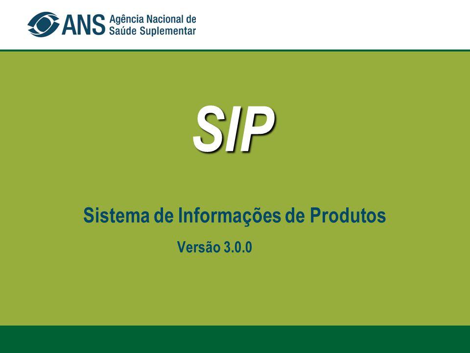 SIP Sistema de Informações de Produtos Versão 3.0.0