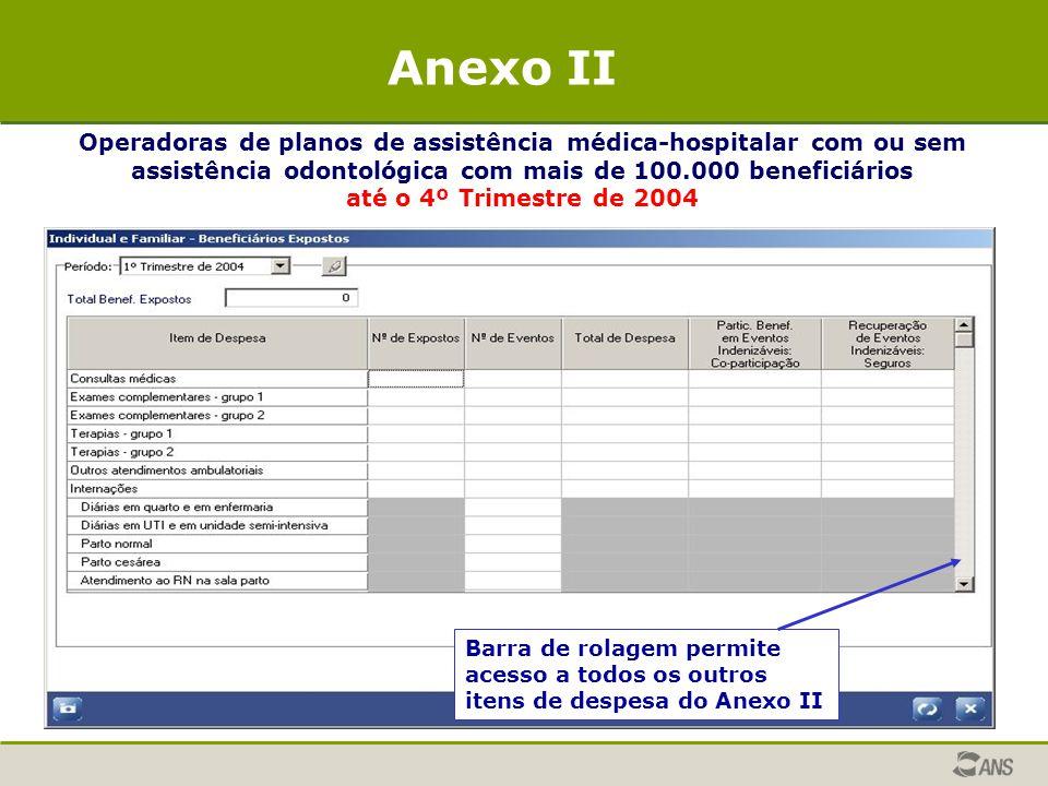 Operadoras de planos de assistência médica-hospitalar com ou sem assistência odontológica com mais de 100.000 beneficiários até o 4º Trimestre de 2004