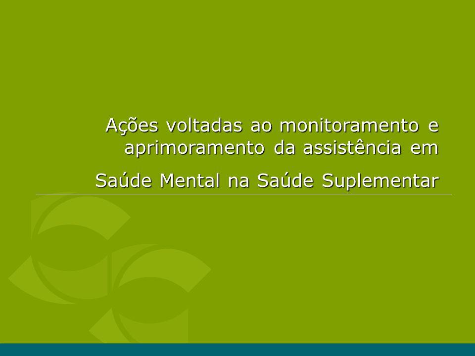Ações voltadas ao monitoramento e aprimoramento da assistência em Saúde Mental na Saúde Suplementar