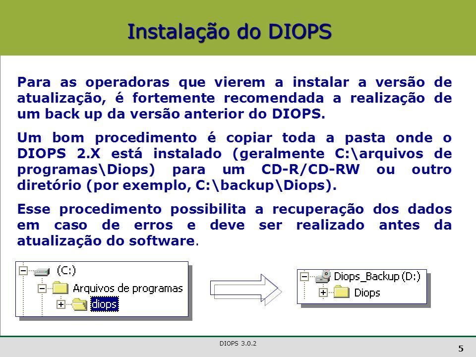 DIOPS 3.0.2 16 Quadro 3 - Administradores Administradores