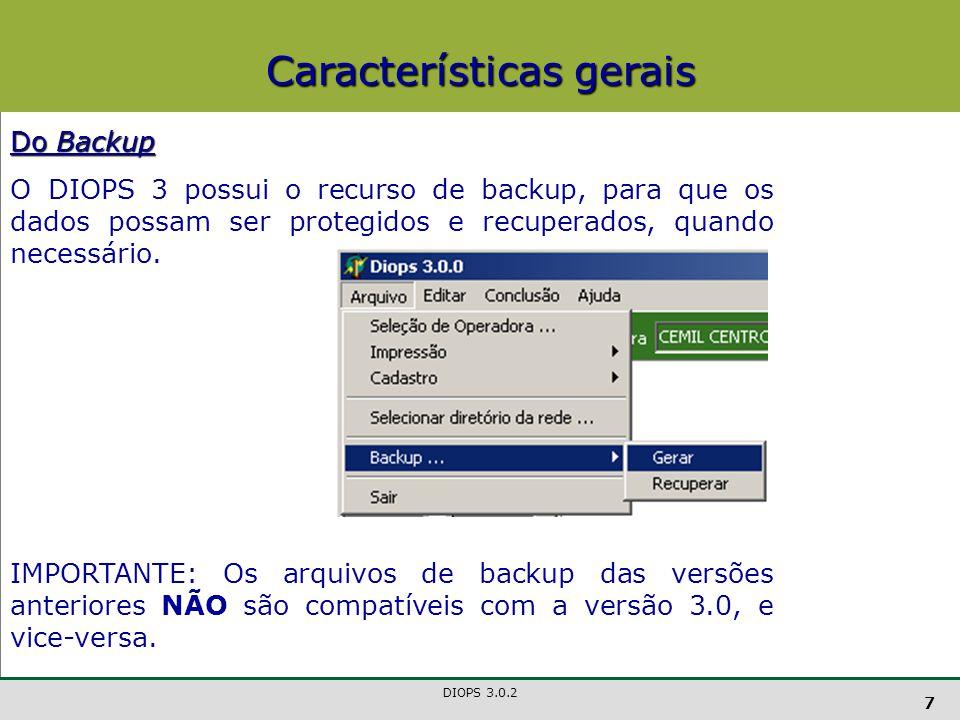 DIOPS 3.0.2 18 Quadro 4 - Representante Representante O Representante terá que ser um dos Administradores da Operadora (incluídos no Quadro 3).