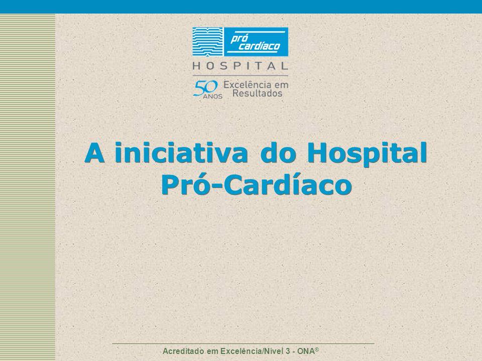 Acreditado em Excelência/Nível 3 - ONA ® A iniciativa do Hospital Pró-Cardíaco