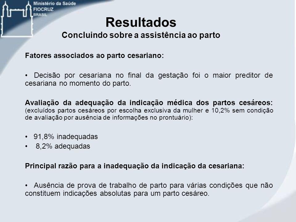 Fatores associados ao parto cesariano: Decisão por cesariana no final da gestação foi o maior preditor de cesariana no momento do parto. Avaliação da