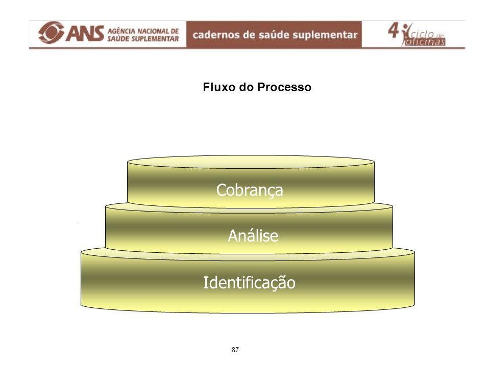 Fluxo do Processo Identificação Análise Cobrança 87