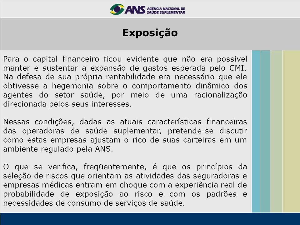 A hipótese apresentada nesse texto é de que as características financeiras das operadoras predominam atualmente.