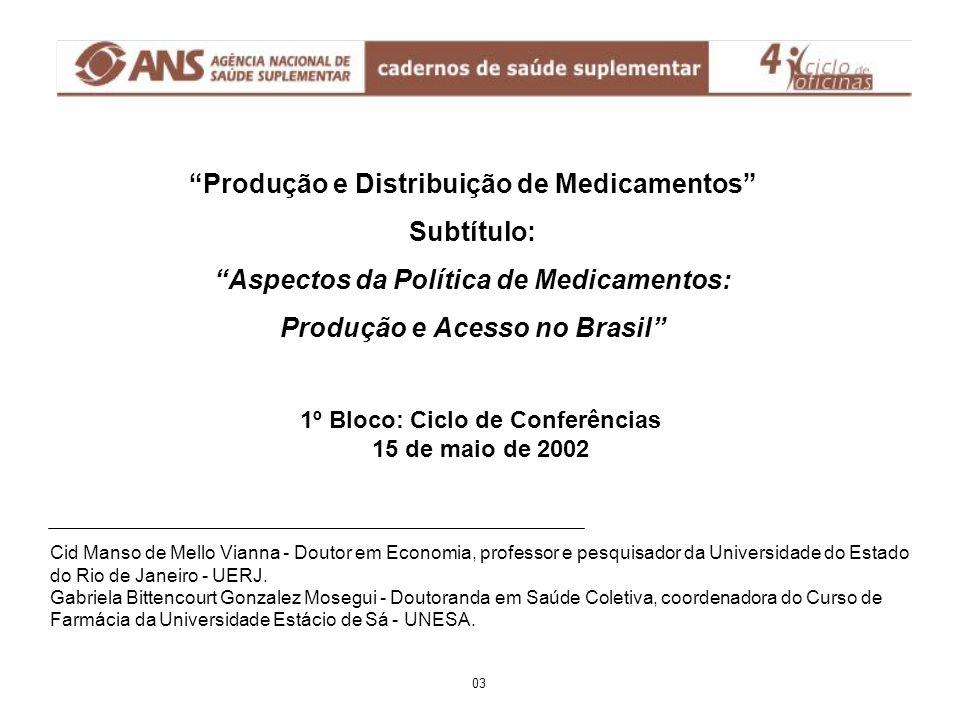 MEDICAMENTOS ESSENCIAIS: a política da OMS; avanços no Brasil A política da OMS é éConceito de medicamentos essenciais é éA primeira lista-modelo 1977 é éPrograma de ação (DAP) 1981 é éAtualidade: adaptação por 110 países é éA décima revisão, 1998   A questão dos medicamentos genéricos (intercambiáveis; biodisponibilidade e bioequivalência) Avanços no Brasil éPioneirismo: Decreto 53.612 éA CEME, 1971 e o Plano Diretor de Medicamentos, 1973 éRENAME: 1980, 1983 éFarmácia básica; RMB éPAF e o Decreto 793/93 éMedicamentos de uso contínuo e programas do MS éDesativação da CEME; PNM e a descentralização éRENAME 1999 34
