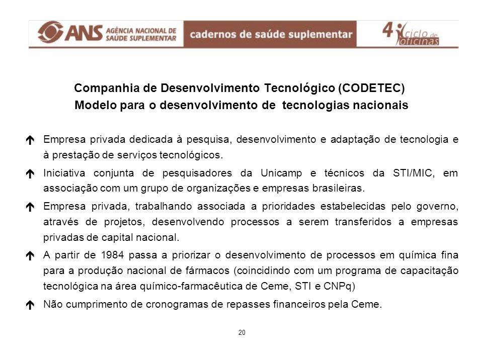 é éEmpresa privada dedicada à pesquisa, desenvolvimento e adaptação de tecnologia e à prestação de serviços tecnológicos. é éIniciativa conjunta de pe