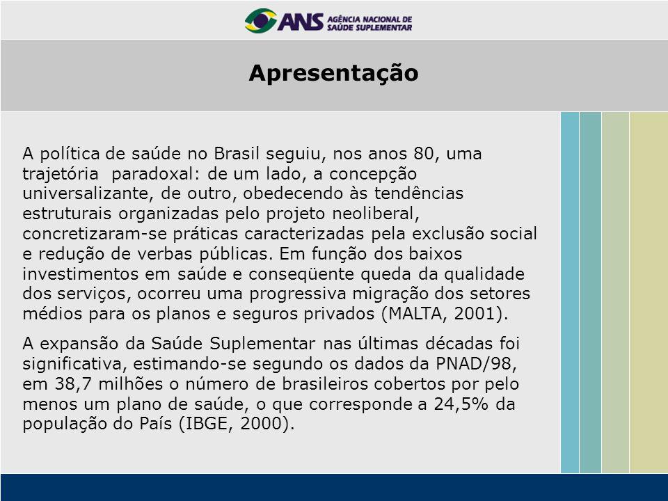 A política de saúde no Brasil seguiu, nos anos 80, uma trajetória paradoxal: de um lado, a concepção universalizante, de outro, obedecendo às tendênci