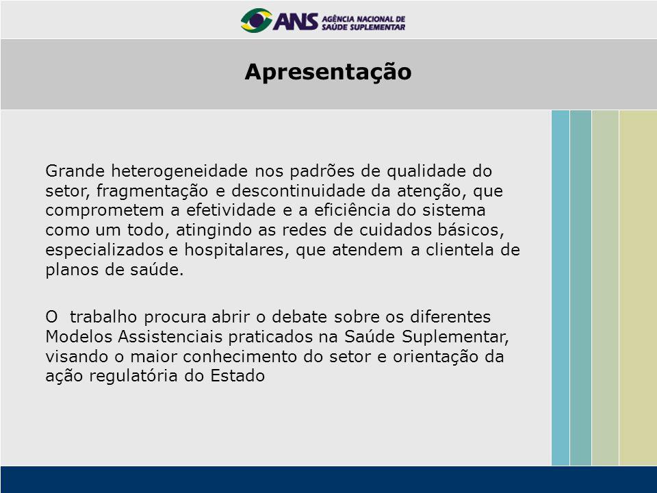 Características dos segmentos da Saúde Suplementar autogestões medicinas de grupo seguradoras cooperativas.