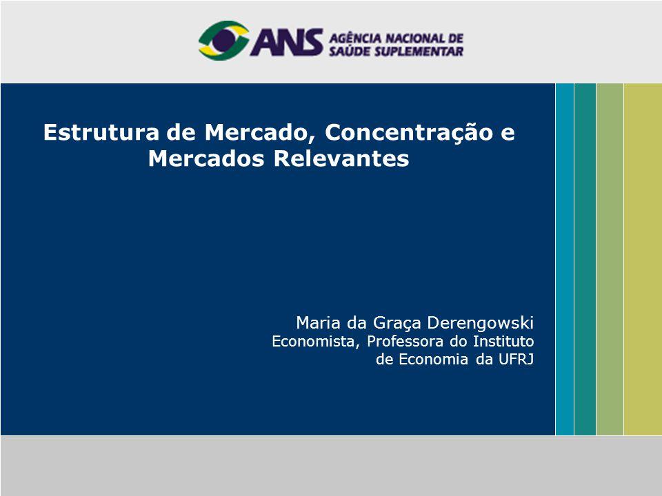 Estrutura de Mercado, Concentração e Mercados Relevantes Maria da Graça Derengowski Economista, Professora do Instituto de Economia da UFRJ