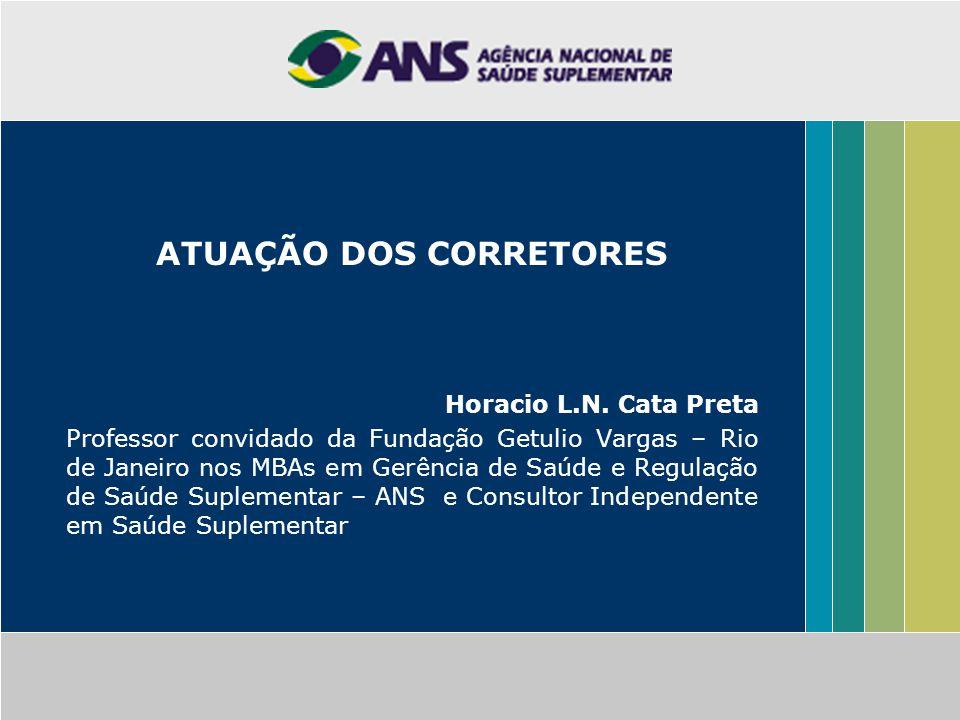 ATUAÇÃO DOS CORRETORES Horacio L.N.