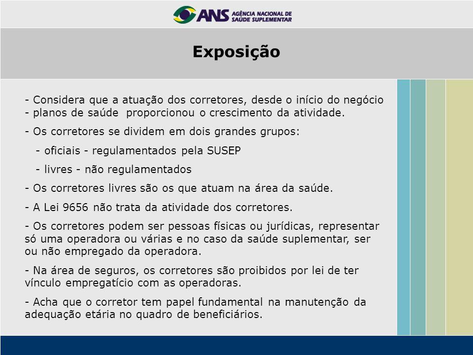 - Considera que a atuação dos corretores, desde o início do negócio - planos de saúde proporcionou o crescimento da atividade.