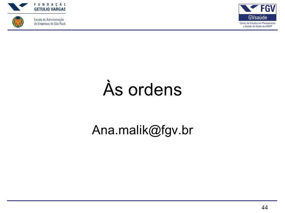 44 Às ordens Ana.malik@fgv.br