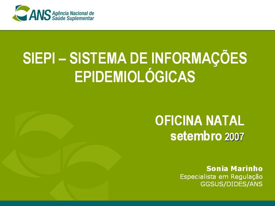 2 Sumário Informação em Saúde e informação na saúde suplementar.