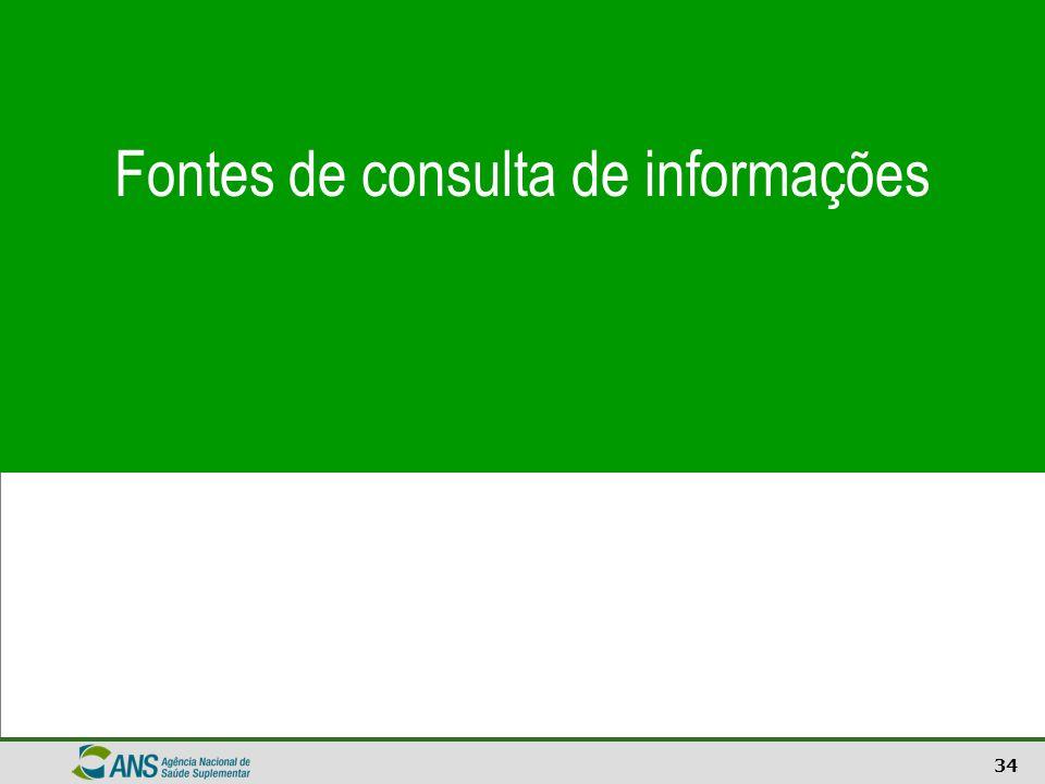 34 Fontes de consulta de informações