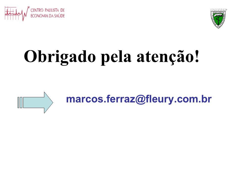 marcos.ferraz@fleury.com.br Obrigado pela atenção! UNIFESP