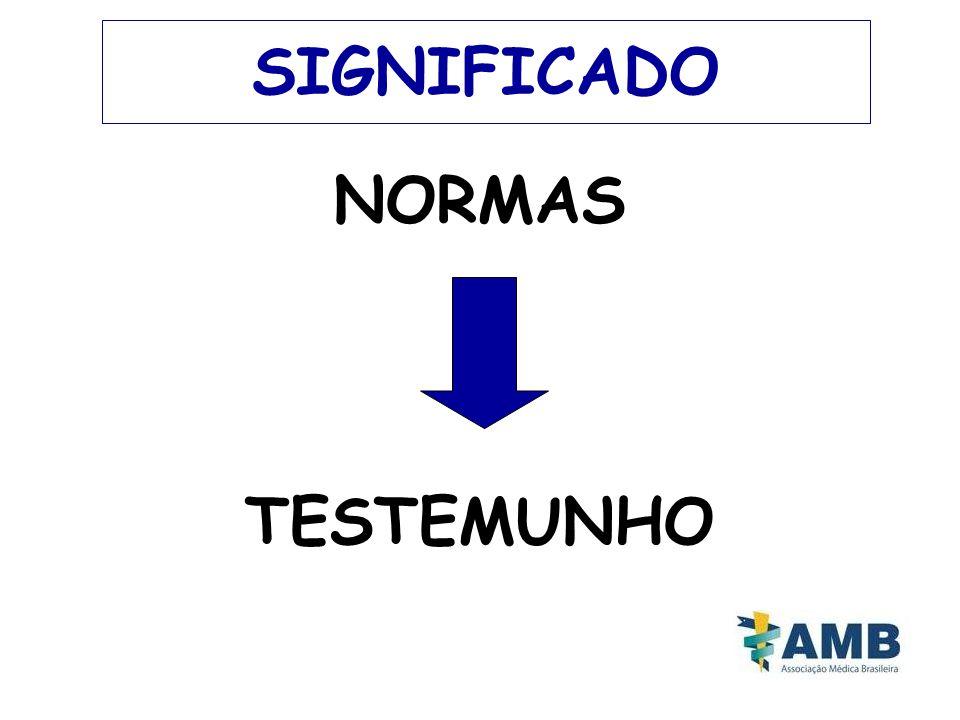 SIGNIFICADO NORMAS TESTEMUNHO