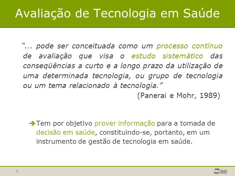 6 Dimensões da Tecnologia em Saúde Eficácia - A tecnologia funciona.