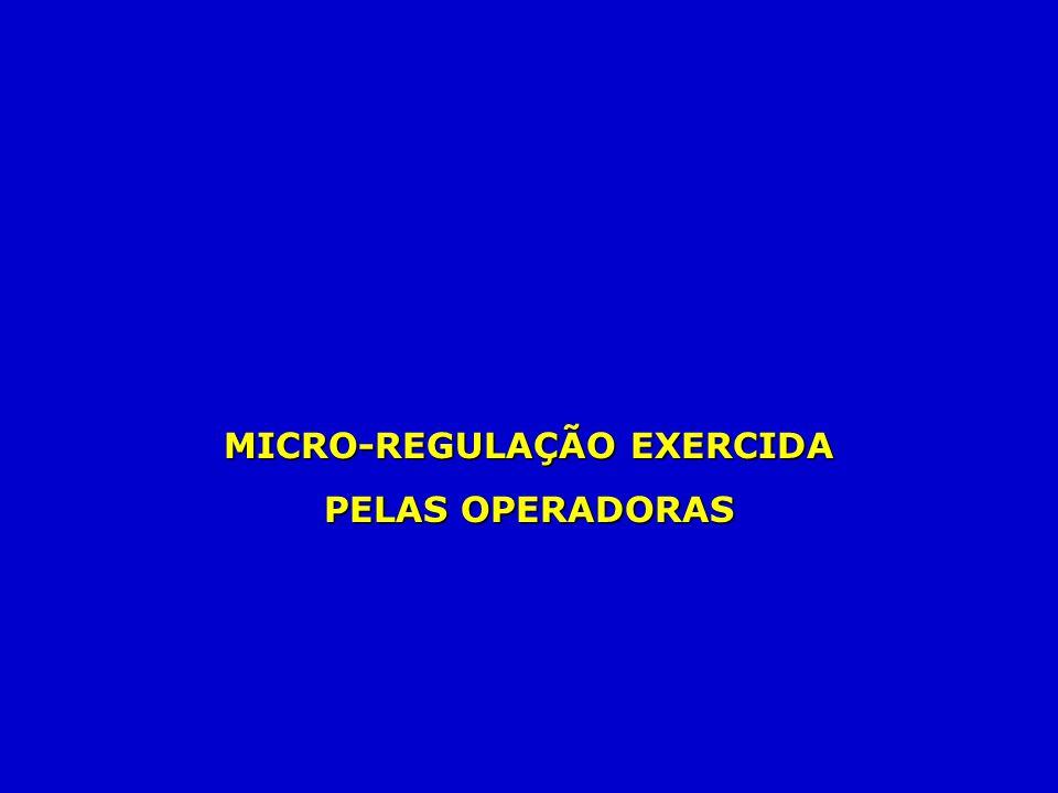 MICRO-REGULAÇÃO EXERCIDA PELAS OPERADORAS
