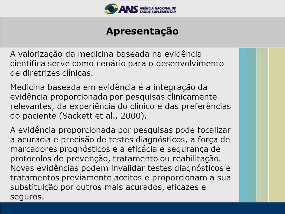 A valorização da medicina baseada na evidência científica serve como cenário para o desenvolvimento de diretrizes clínicas. Medicina baseada em evidên